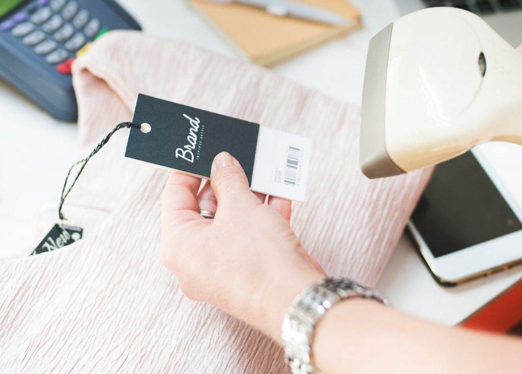 point of sale, barcode, scanning, clothes, retail